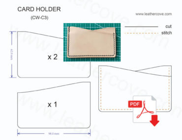 Leather Card-Holder Pattern -CW-C3
