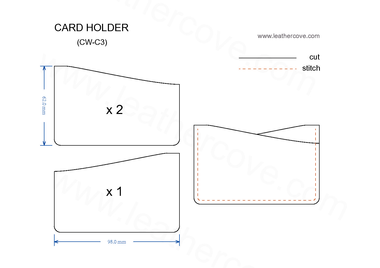 Slim Card Holder Pattern Pdf Leathercove