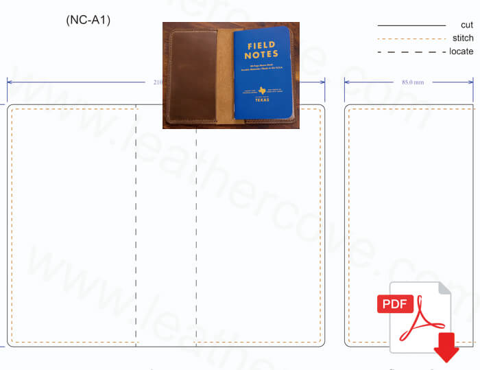 Field Notes Cover Pattern Pdf Leathercove