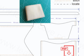 leather wallet pattern - pdf