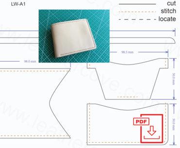 leather wallet pattern - pdf