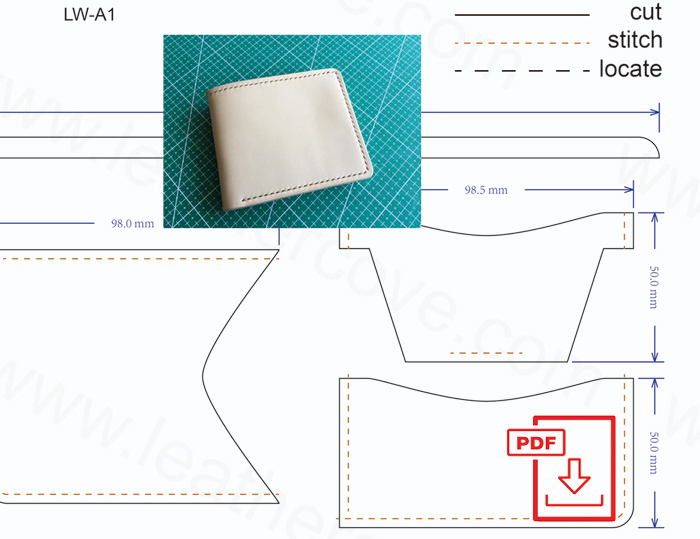 Free Leather craft Patterns and Tutorials, Free PDF Leather Wallet ...