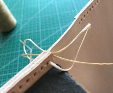 saddle stitch leather