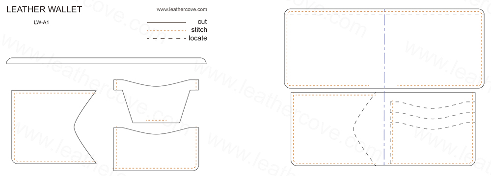 Leather Wallet Pattern PDF LeatherCove Delectable Leather Wallet Pattern