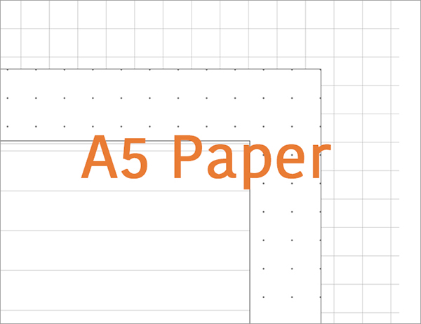 graphic relating to Free Printable Dot Grid Paper named No cost Printable A5 Paper 6 Gap, Dotted/Grid/Dominated Refills